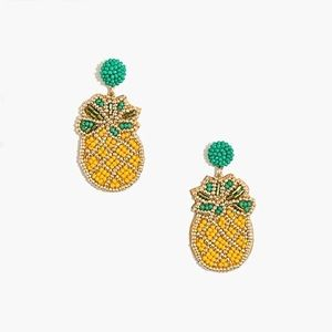 NWT Pineapple beaded statement earrings